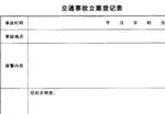 交通事故立案登记表